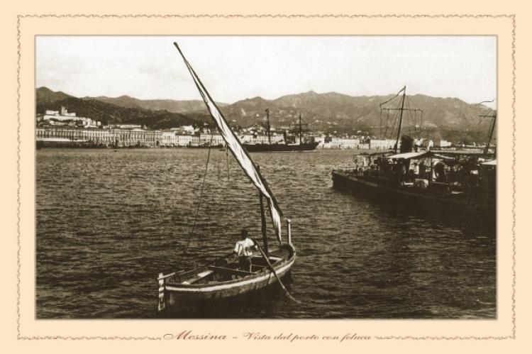Messina - Il porto visto dalla feluca