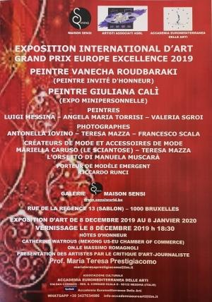 Mostra internazionale a Bruxelles. Progetto Made in Sicily Hôte d' honneur Vanecha Roudbaraki
