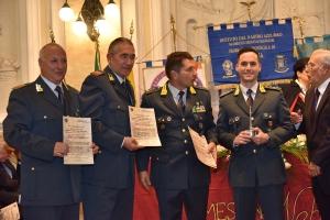 """Premio Speciale Orione 2019 - """"Attestato di Benemerenza"""" - componenti  la Tenenza della Guardia di Finanza di Sant'Agata di Militello (Me)."""